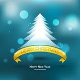 Fondo moderno del árbol de Navidad, ejemplo del EPS 10 Fotos de archivo libres de regalías