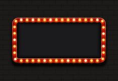 Fondo moderno del tabellone per le affissioni di vettore retro Fotografia Stock