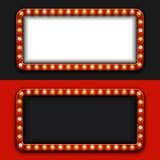 Fondo moderno del tabellone per le affissioni di vettore retro Fotografie Stock