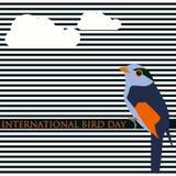 Fondo moderno dell'estratto creativo di vettore per il giorno internazionale dell'uccello Immagini Stock Libere da Diritti