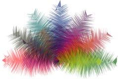 Fondo moderno dell'estratto multiplo di colore Immagini Stock