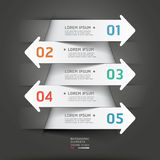 Fondo moderno della freccia del taglio della carta. Immagini Stock Libere da Diritti