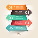 Fondo moderno della freccia del taglio della carta. Immagine Stock