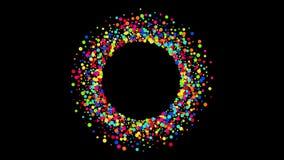 Fondo moderno di animazione di rotazione dei cerchi video 4K illustrazione vettoriale