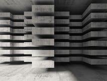 Fondo moderno di architettura del calcestruzzo 3d Fotografia Stock