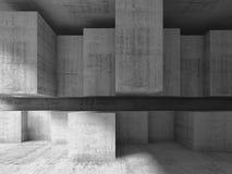 Fondo moderno di architettura, illustrazione 3d Fotografie Stock Libere da Diritti