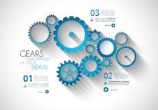 Fondo moderno di concetto di stile di Infographic Immagine Stock