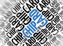 Fondo moderno di vendita - Chip Card Immagini Stock