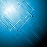 Fondo moderno di vettore di ciao-tecnologia Fotografie Stock Libere da Diritti