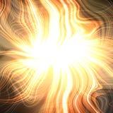 Fondo moderno energetico arancio vibrante della scintilla ocracea illustrazione vettoriale