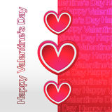 Fondo moderno felice di giorno di biglietti di S. Valentino nuovo Fotografie Stock