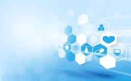 Fondo moderno geométrico abstracto Fondo del concepto de la medicina y de la ciencia ilustración del vector