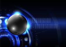 Fondo moderno VE del extracto de la esfera del botón global tecnológico Fotografía de archivo libre de regalías
