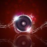 Fondo mojado de la música Fotografía de archivo libre de regalías