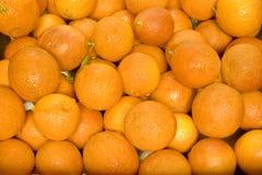 Fondo mojado de las naranjas de sangre Imagen de archivo libre de regalías