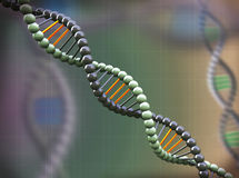 fondo molecolare astratto del DNA 3d Fotografia Stock