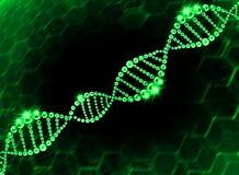 Fondo molecolare dell'elica del DNA Fotografia Stock