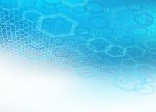 Fondo molecular azul abstracto Ilustración del Vector