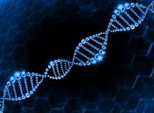 Fondo molecular de la hélice de la DNA Imagen de archivo