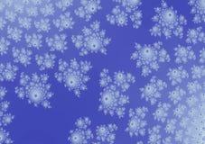 Fondo molle blu viola orizzontale di progettazione floreale illustrazione di stock