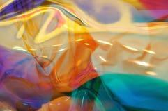 Fondo molle colorato brillante del fuoco di struttura olografica dell'estratto multi fotografia stock