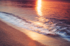 Fondo molle di tramonto del mare di colori Fotografia Stock Libera da Diritti