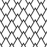 Fondo monocromático geométrico Modelo inconsútil blanco y negro Imágenes de archivo libres de regalías