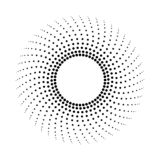 Fondo monocrom?tico abstracto punteado Modelo de semitono libre illustration
