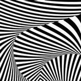 Fondo monocromatico di illusione del movimento di progettazione Fotografie Stock