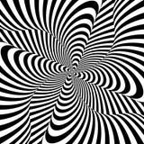 Fondo monocromatico di illusione del mulinello di progettazione illustrazione di stock