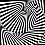 Fondo monocromatico di illusione di vortice di progettazione Immagine Stock Libera da Diritti