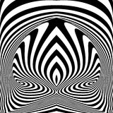 Fondo monocromatico di illusione di vortice di progettazione illustrazione vettoriale