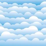 Fondo mullido abstracto de las nubes del azul 3d (contexto) ilustración del vector