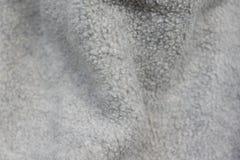 Fondo mullido gris de lanas suaves Foto de archivo