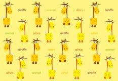 Fondo multicolor abstracto de la jirafa libre illustration