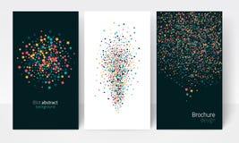 Fondo multicolor abstracto de la mancha blanca /negra Imagen de archivo libre de regalías