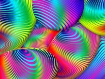 Fondo multicolor abstracto del fractal de diseños espirales IL libre illustration