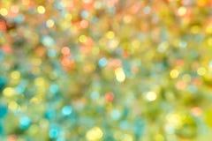 Fondo multicolor de Bokeh Fotografía de archivo
