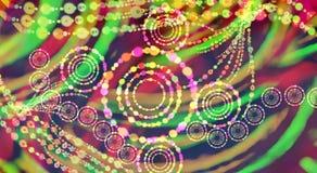 Fondo multicolor de la forma Fondo defocused de la pendiente Textura de la pared Imagen de archivo libre de regalías