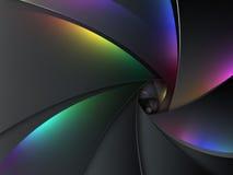 Fondo multicolor de la lente de cámara stock de ilustración