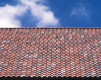 Fondo multicolor de la teja de tejado Foto de archivo
