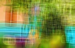 Fondo multicolor de las rayas con el modelo Fotos de archivo libres de regalías