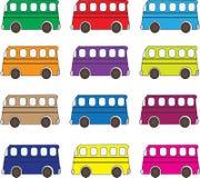 Fondo multicolor de los autobuses Libre Illustration
