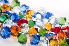 Fondo multicolor de los diamantes Foto de archivo