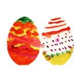 Fondo multicolor de los huevos de Pascua Foto de archivo libre de regalías