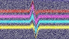 Fondo multicolor del vector de círculos Bajo la forma de a tan ilustración del vector