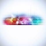 Fondo multicolor geométrico abstracto de la tecnología Fotos de archivo libres de regalías
