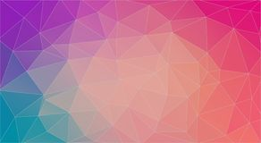 Fondo multicolor horizontal plano del triángulo stock de ilustración