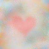 Textura de cristal del corazón foto de archivo libre de regalías
