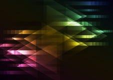 Fondo multicolor oscuro abstracto de la coincidencia de la flecha del movimiento Imagen de archivo
